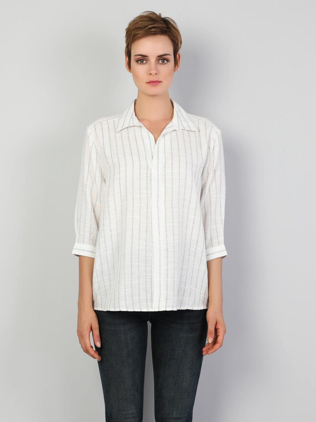 Показати інформацію про Сорочка З Довгим Рукавом Жіноча Біла Оверсайз Cl1047328