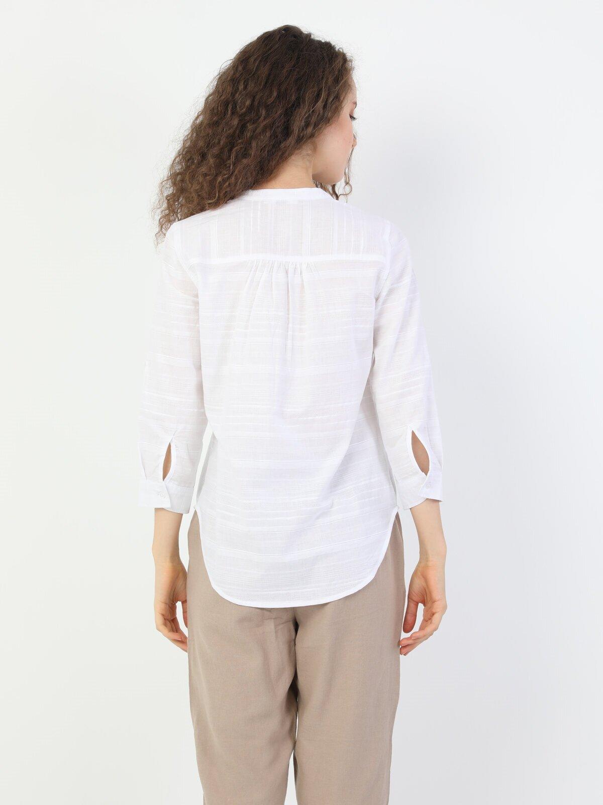 Показати інформацію про Сорочка З Довгим Рукавом Жіноча Біла Оверсайз Cl1048541
