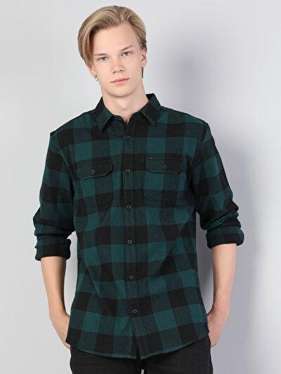Зображення Зелений чол. Сорочки з довгим рукавом