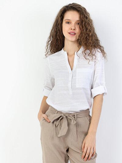 Зображення Білий жін. Сорочки з довгим рукавом