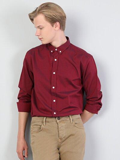 Зображення Червоний чол. Сорочки з довгим рукавом