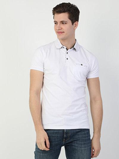 Зображення Білий чол. теніска поло з коротким рукавом