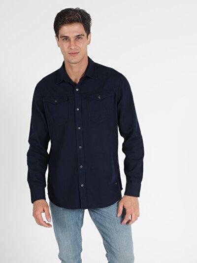 Зображення Синій чол. Сорочки з довгим рукавом