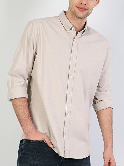 Зображення Бежевий чол. Сорочки з довгим рукавом