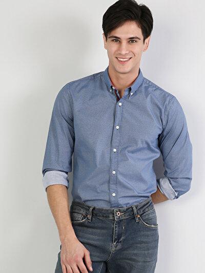 Зображення Блакитний чол. Сорочки з довгим рукавом