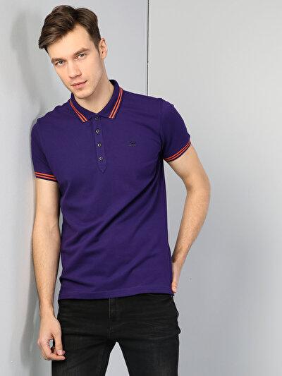 Зображення Пурпурний чол. теніска поло з коротким рукавом