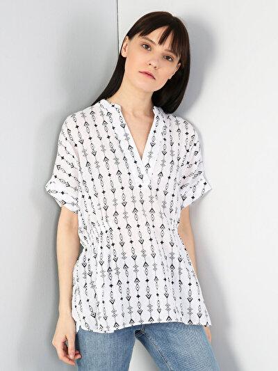 Зображення Білий жін. Сорочки з коротким рукавом